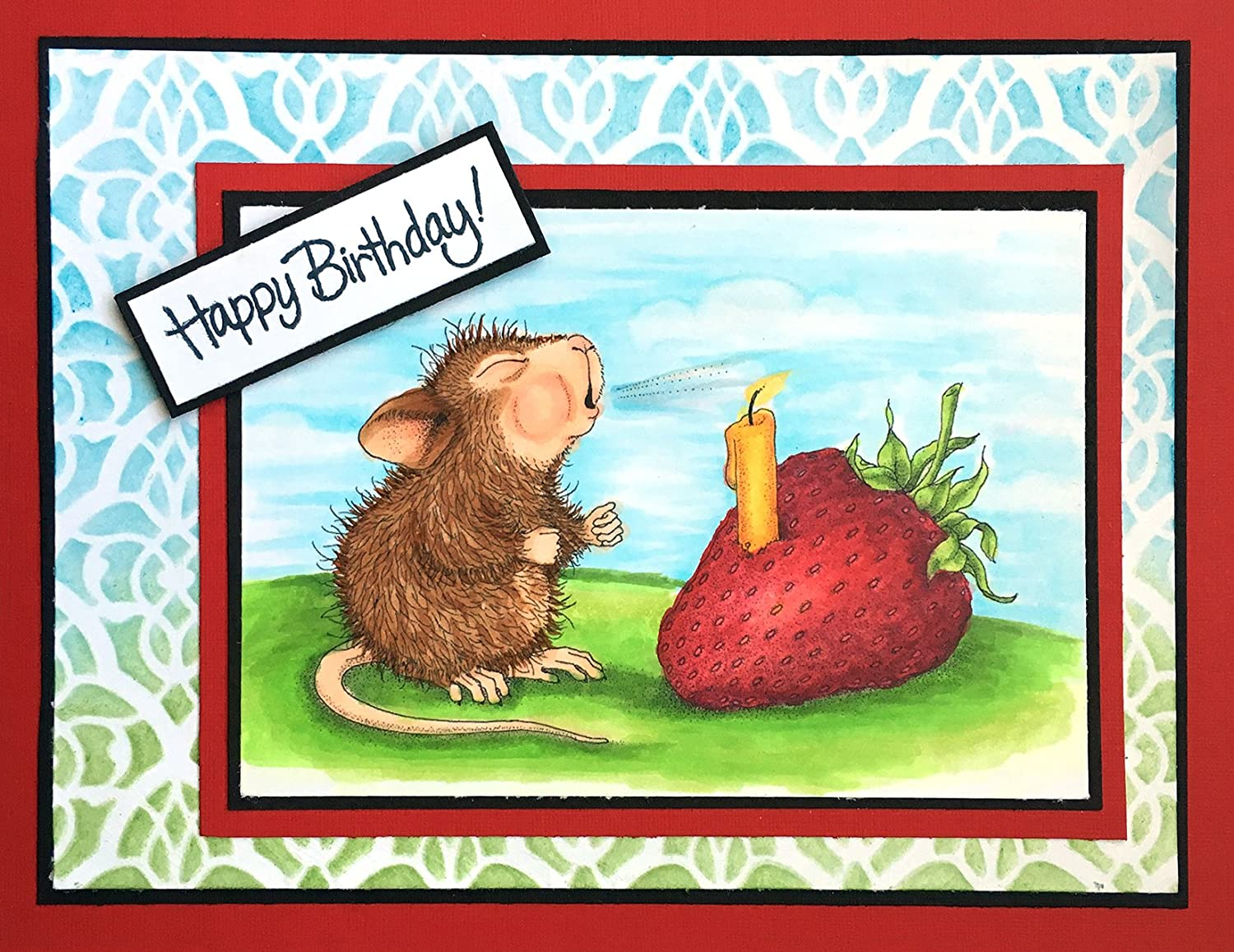 Strawberry Wish Stampendous HMCM18 House Mouse Cling Stamp