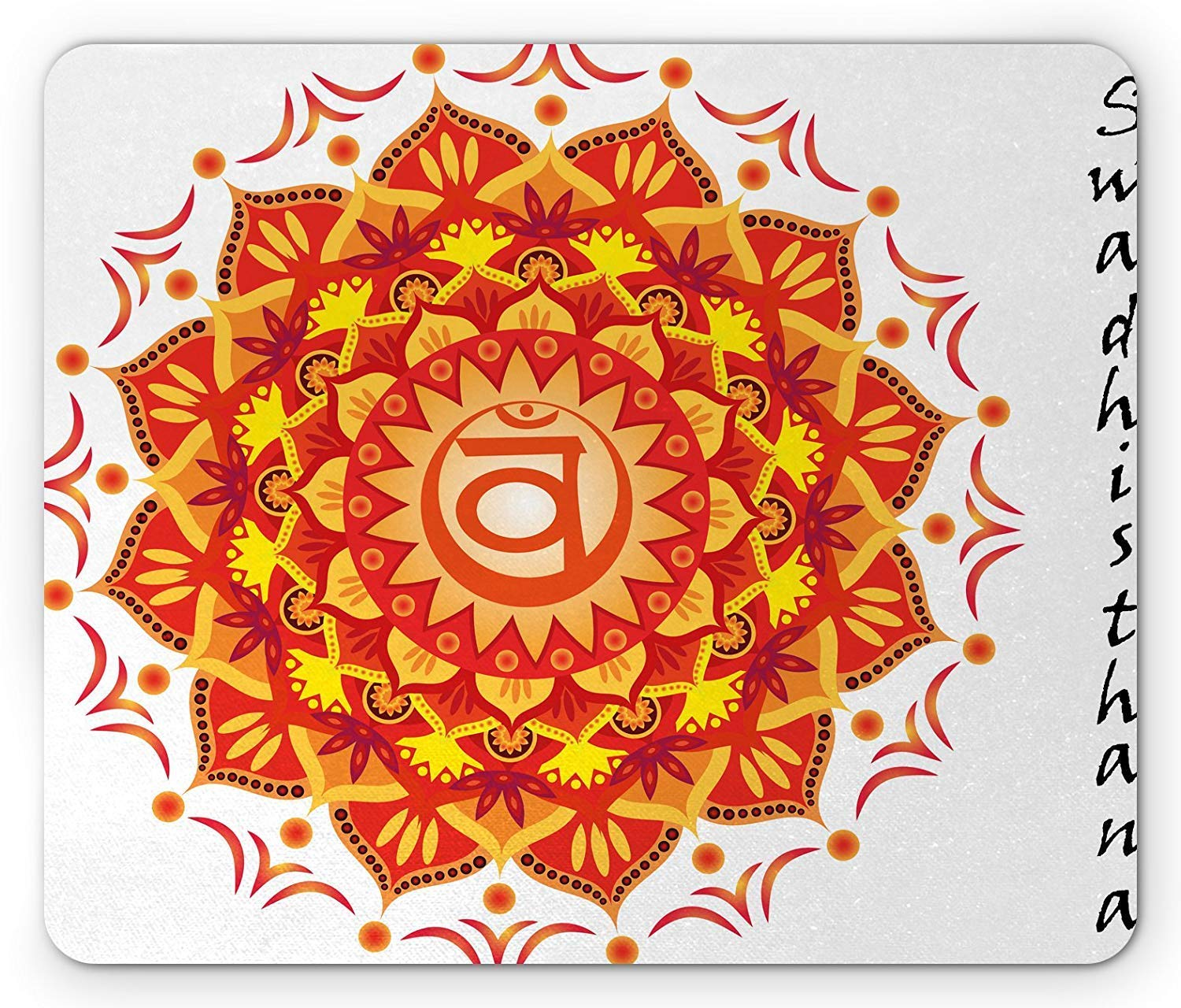 Chakra Mouse Pad, Lotus Flower with Chakra Centre of The