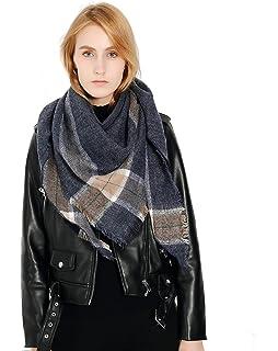 c95ff3eb2249 Femme Fille Tartan carreaux plaid extra large Triangle Écharpe Wrap Frange