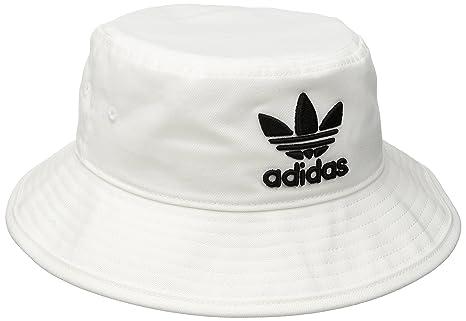 57c16ca8 Image Unavailable. Image not available for. Colour: adidas Men's Originals  Trefoil Bucket Hat, White ...