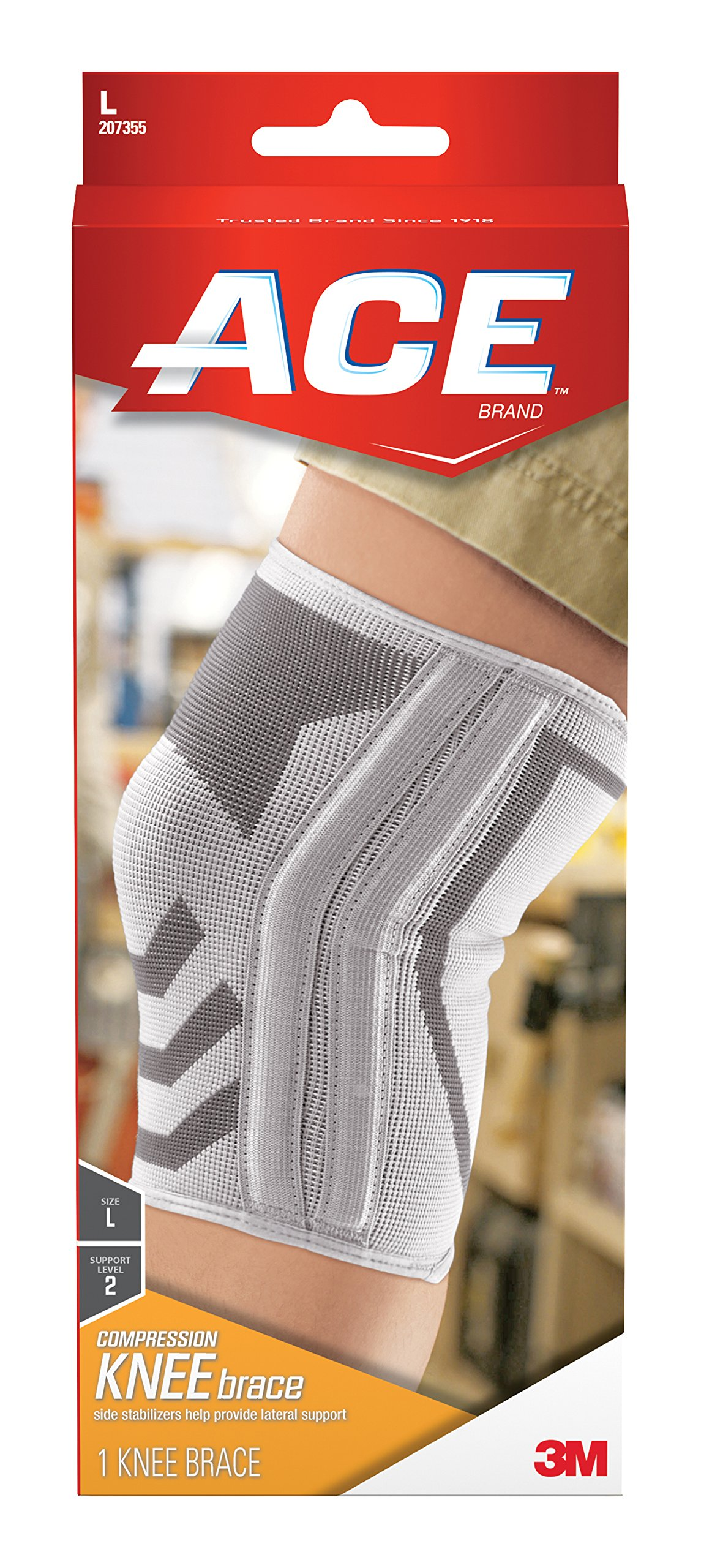 Amazon Com Ace Knitted Knee Support Large Pack Of 2