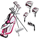 Aspire X1 Ladies Womens Complete Right Handed Golf Clubs Set Includes Titanium Driver, S.S. Fairway, S.S. Hybrid, S.S. 6…