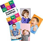Dealing in Feelings Emotions Cards-Feelings Flash Cards-Improves Social Skills and Empathy-Feelings Card Game Deck