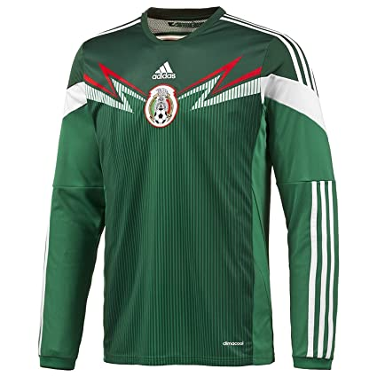 43511cbf86f adidas Mexico Home Jersey World Cup 2014 Long Sleeve (S)