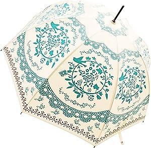Kung Fu Smith Vintage Bubble Dome Parasol Umbrella for Sun & Rain - Ultra Lightweight - Safe Open Close Rain UV Protection Parasol Umbrella