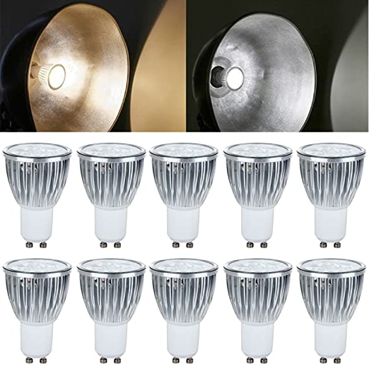 bylife 10pcs, 85 – 265 V 5 W GU10 Bombillas LED, 60 grados ángulo