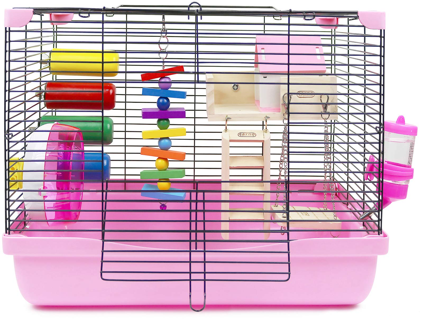 GalaPet Hamster and Guinea Pig Cage Habitat for Small Animal with Accessories
