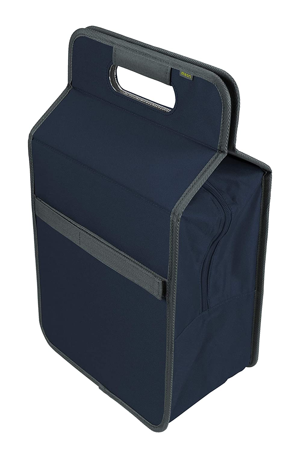Meori Foldable Cooler Bag L with Bottle Insert Navy Blue Plain