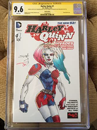 HARLEY QUINN #30~FINAL ISSUE~AMANDA CONNER COVER~HAND-SIGNED BY ALEX SINCLAIR~