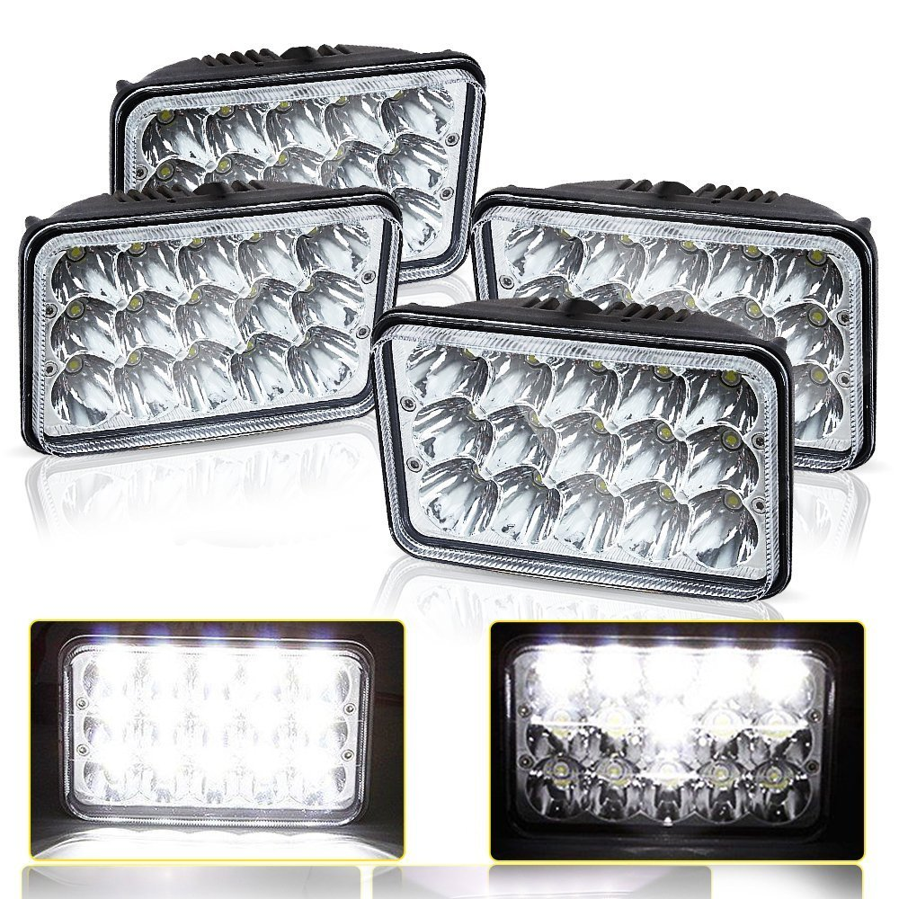 4X LED Headlights Kenworth T800 T400 T600 W900B W900 FLD120