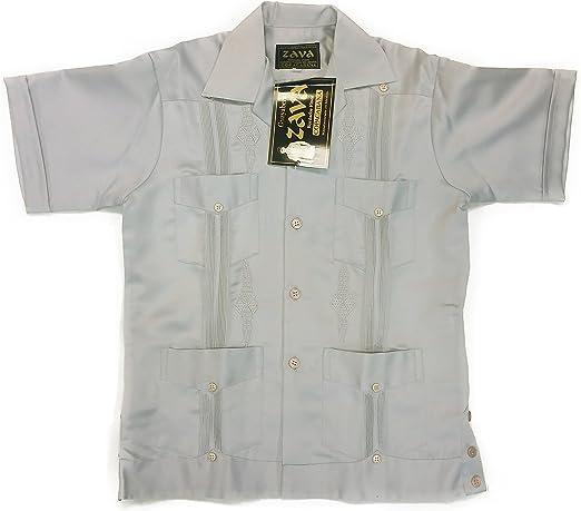 Zava Fashion Authentic Guayabera Yucateca Copacabana Classica for Kids Color White