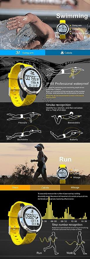 Boblov F69 Smartwatch Deportivo Bluetooth IP68 impermeable ...