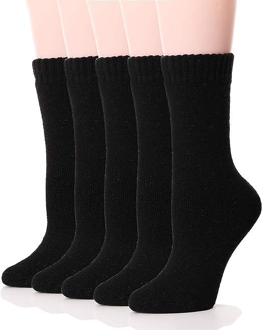 Ladies Wool Socks Womens Thermal Socks Hike Walking Heavy Duty Work Boot Socks
