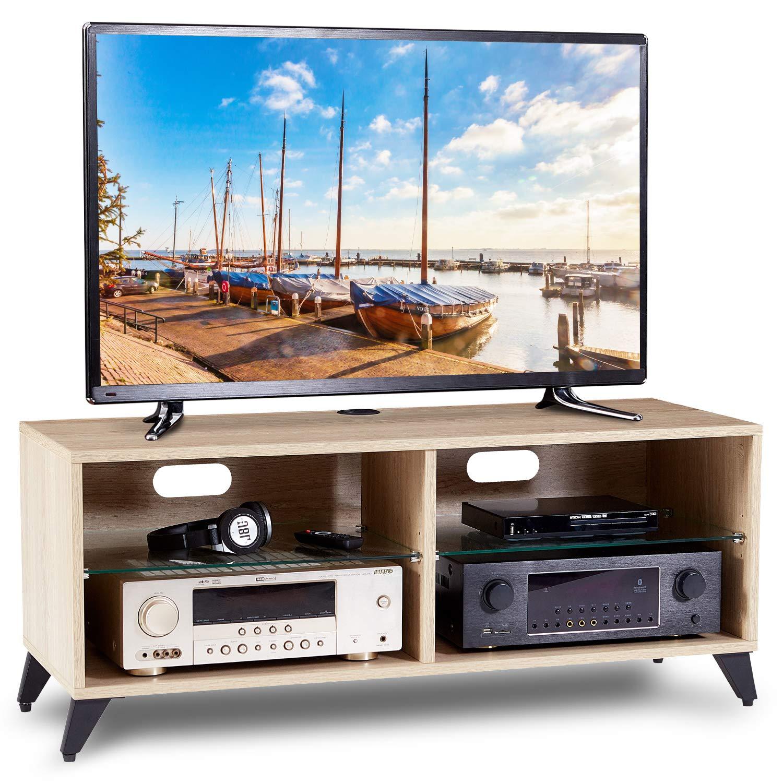 RFIVER Mobiletti per Soggiorno con Ruote Mobile Tavolo TV Moderno Supporto per TV in Legno TS5001