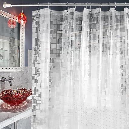Carttiya EVA Shower Curtain Liner, Mildew Resistant Anti Bacterial Clear   Non  Toxic,