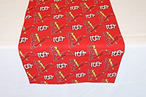 """Zen Creative Designs 100% Cotton MLB Sports Team Baseball St. Louis Cardinals Print Table Runner Perfect Decor for Events, Parties, Tailgating, BBQ or Kitchen Decor (12"""" x 58"""")"""
