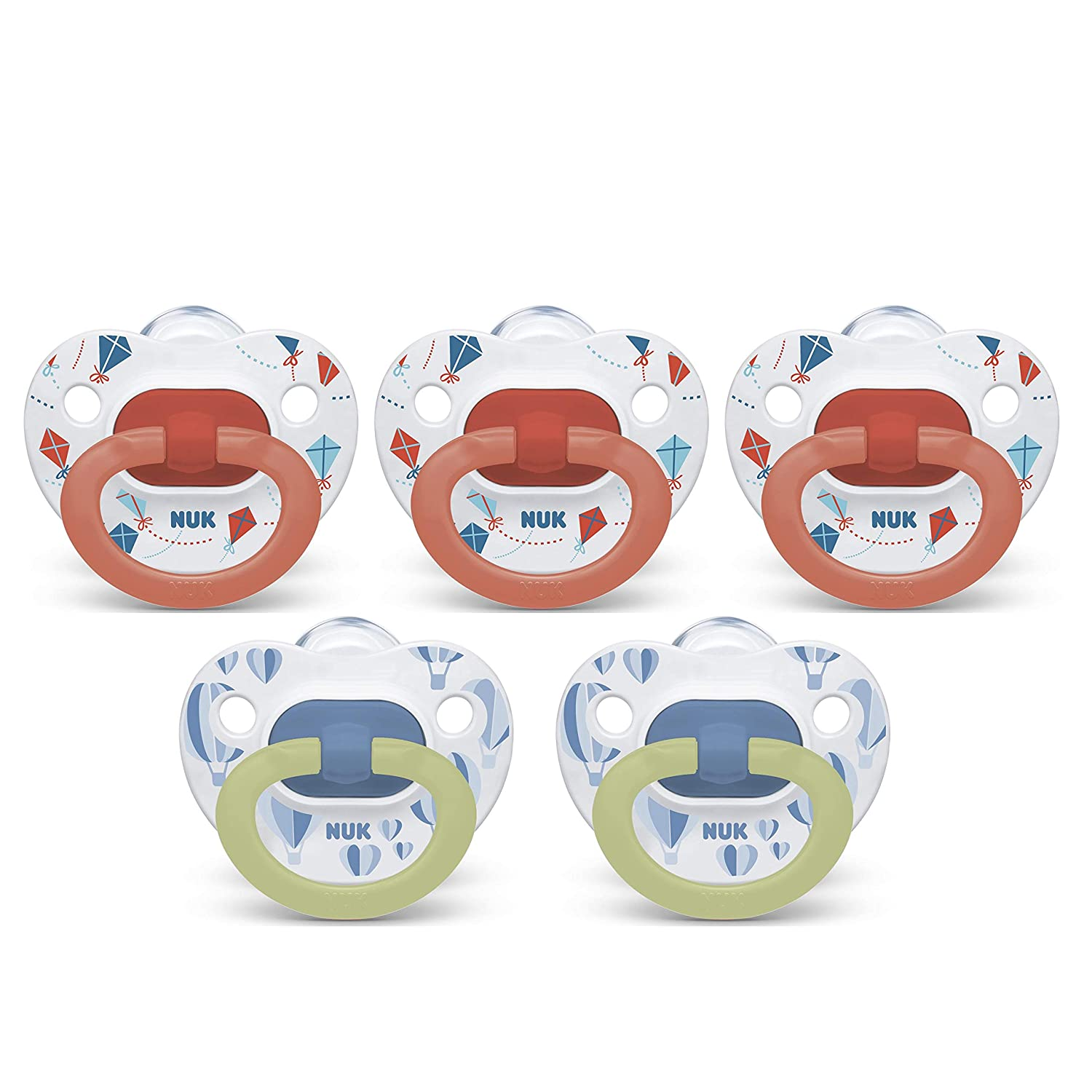 NUK Orthodontic Pacifiers,/ 6-18 Months 5-Pack