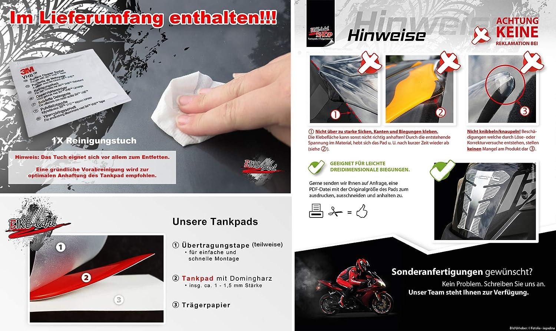 Bike Label 502262b Tankpad Lackschutz Aufkleber Für Motorrad Tank Eisernes Kreuz Auto
