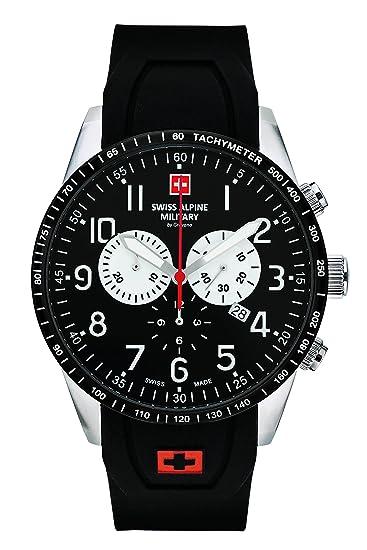 super popular 74ef9 92d35 Reloj Swiss Alpine Military by Grovana, de hombre, cronógrafo, 10 ATM, con  correa de silicona