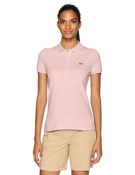 b41015b14b Lacoste Women's Slim Fit Stretch Mini Cotton Pique Polo: Amazon.ca ...
