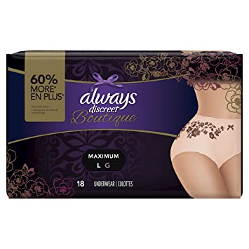 Always Discreet Boutique Incontinence Postpartum Underwear For Women Disposable
