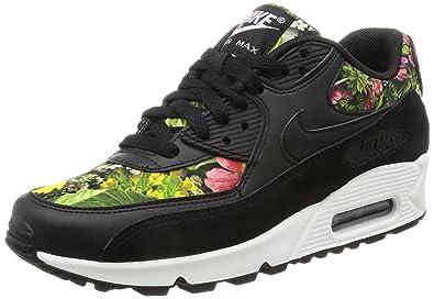 Nike Women's Air Max 90 SE Running Shoes Black/Prism Pink/Summit White/