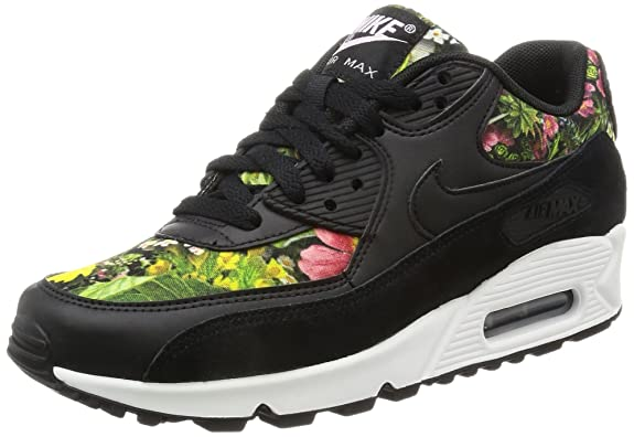 the latest fe477 29f9e Nike Air Max 90 Se Print Womens Trainers, Black   Prism Pink   Summit  White, 3.5 UK  Amazon.co.uk  Shoes   Bags