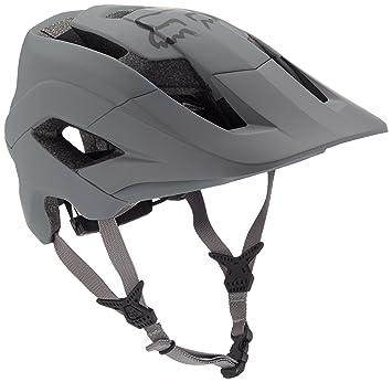 Fox hombre metah Solids – Casco para bicicleta, hombre, color gris, tamaño small