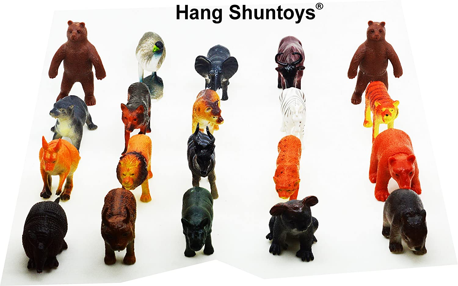 buy wild animals plastic toys for kids 20 pcs pack online at