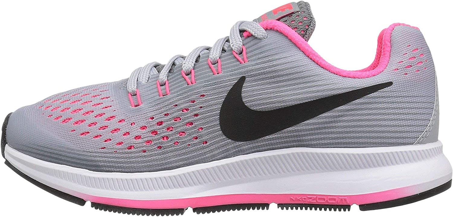 giocare Leeds conoscere  NIKE Girl's Zoom Pegasus 34 (GS) Running Shoe Wolf Grey/Black/Cool  Grey/Racer Pink Size 3 M US: Amazon.ca: Shoes & Handbags