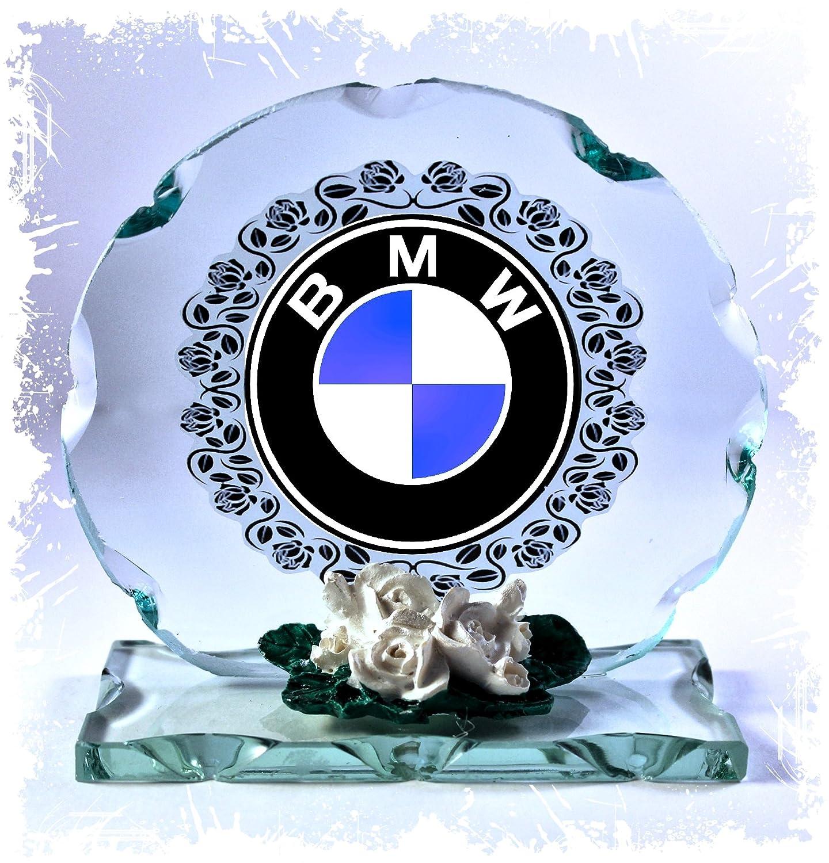 BMW badge rond en verre taillé Cadre plaque occasion spéciale Collector Édition limitée Cellini