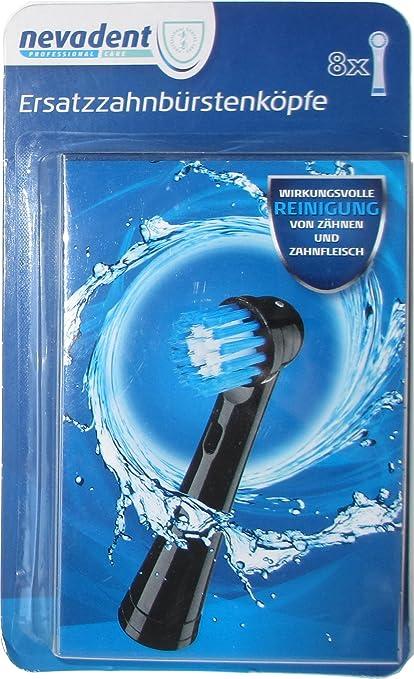 nevadent® 8 cabezales de cepillo de dientes/cabezales de recambio para cepillo de dientes