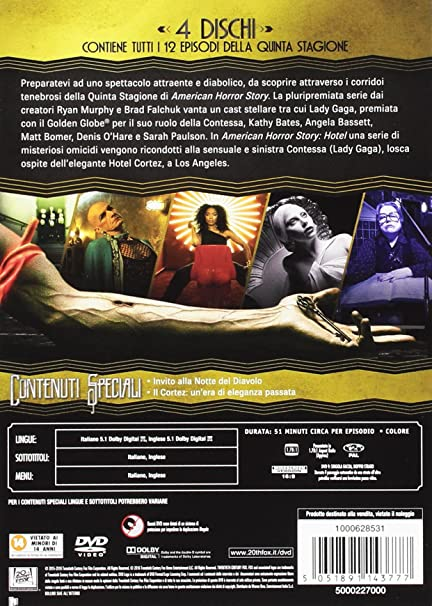 american horror story - season 05 4 dvd box set DVD Italian Import: Amazon.co.uk: jessica lange, frances conroy: DVD & Blu-ray