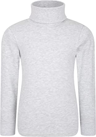 Mountain Warehouse Camiseta de algodón con Cuello Vuelto Meribel para niños, Invierno