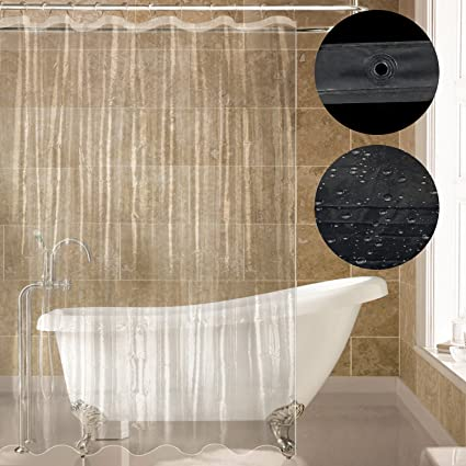 Carttiya Clear Shower Curtain Liner PEVA Bath Mildew Resistant Anti Bacterial