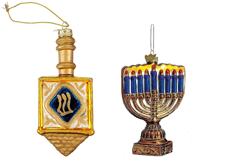 Hanukkah ornaments for a tree - Amazon Com Kurt Adler 4 Inch Noble Gems Glass Jewish Dreidel Ornament Home Kitchen
