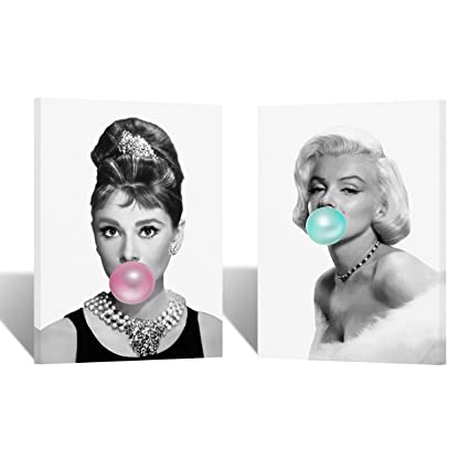 Amazon.com: Audrey Hepburn and Marilyn Monroe Chewing Gum Black and ...