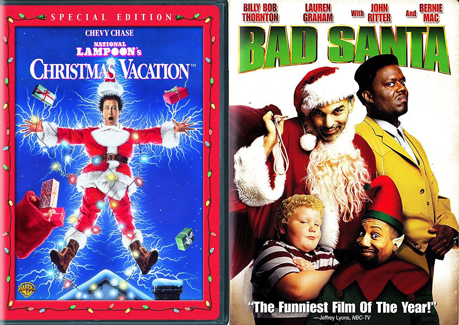 amazoncom christmas comedy double feature chevy chase vacation bad santa holiday 2 pack holiday double feature movie movies tv - Christmas Vacation On Tv