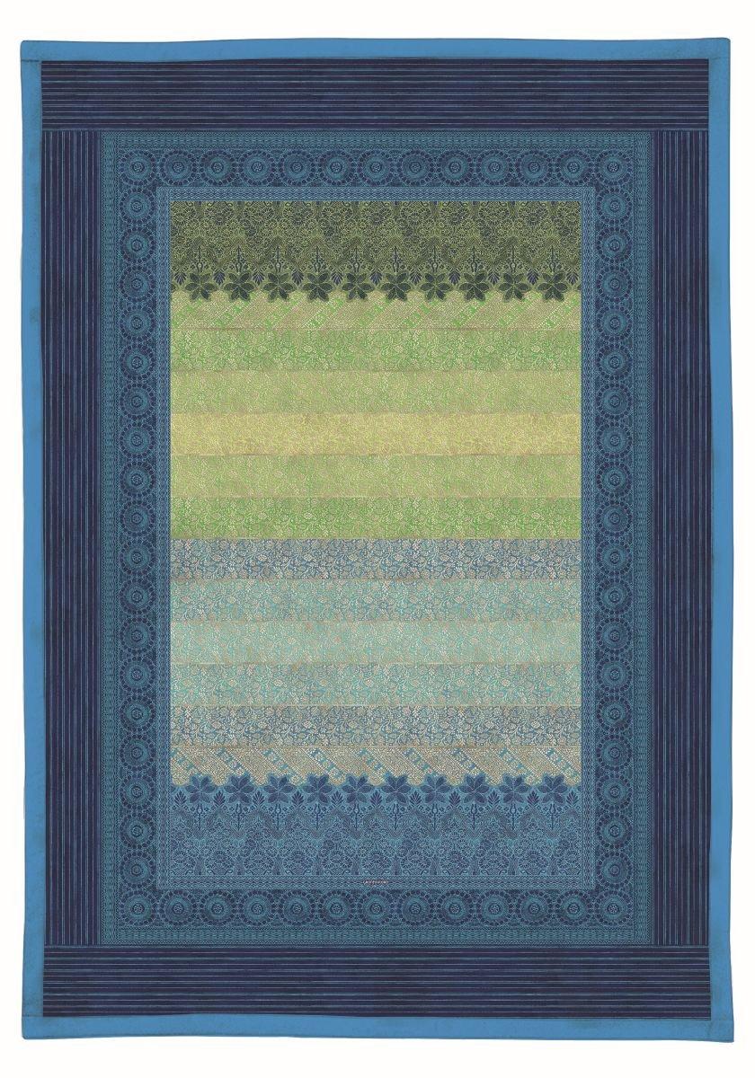 Bassetti 9235496 Plaid - Tagesdecke, Appiani V3, Baumwolle, Sondergrößen 190 x 135 x 0,5 cm, blau