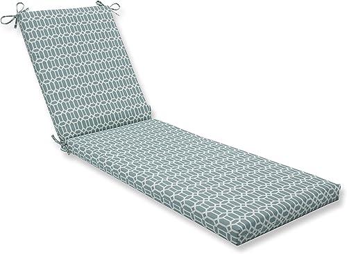 Pillow Perfect Outdoor/Indoor Rhodes Quartz Chaise Lounge Cushion 80x23x3,Blue