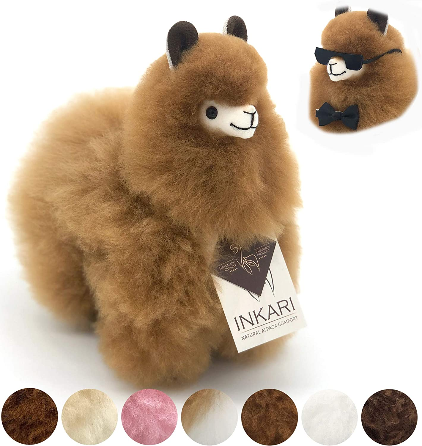 Inkari Alpaca Gift Toy, Super Sweet and Fluffy, Made of Real Alpaca and Llama Wool, Fair and Sustainable…