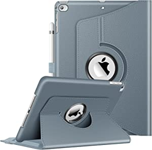 Fintie Case for iPad 9.7 2018 2017 / iPad Air 2 / iPad Air - 360 Degree Rotating Protective Stand Cover with Auto Sleep Wake for iPad 9.7 inch (6th Gen, 5th Gen) / iPad Air 2 (Cloudy Blue)