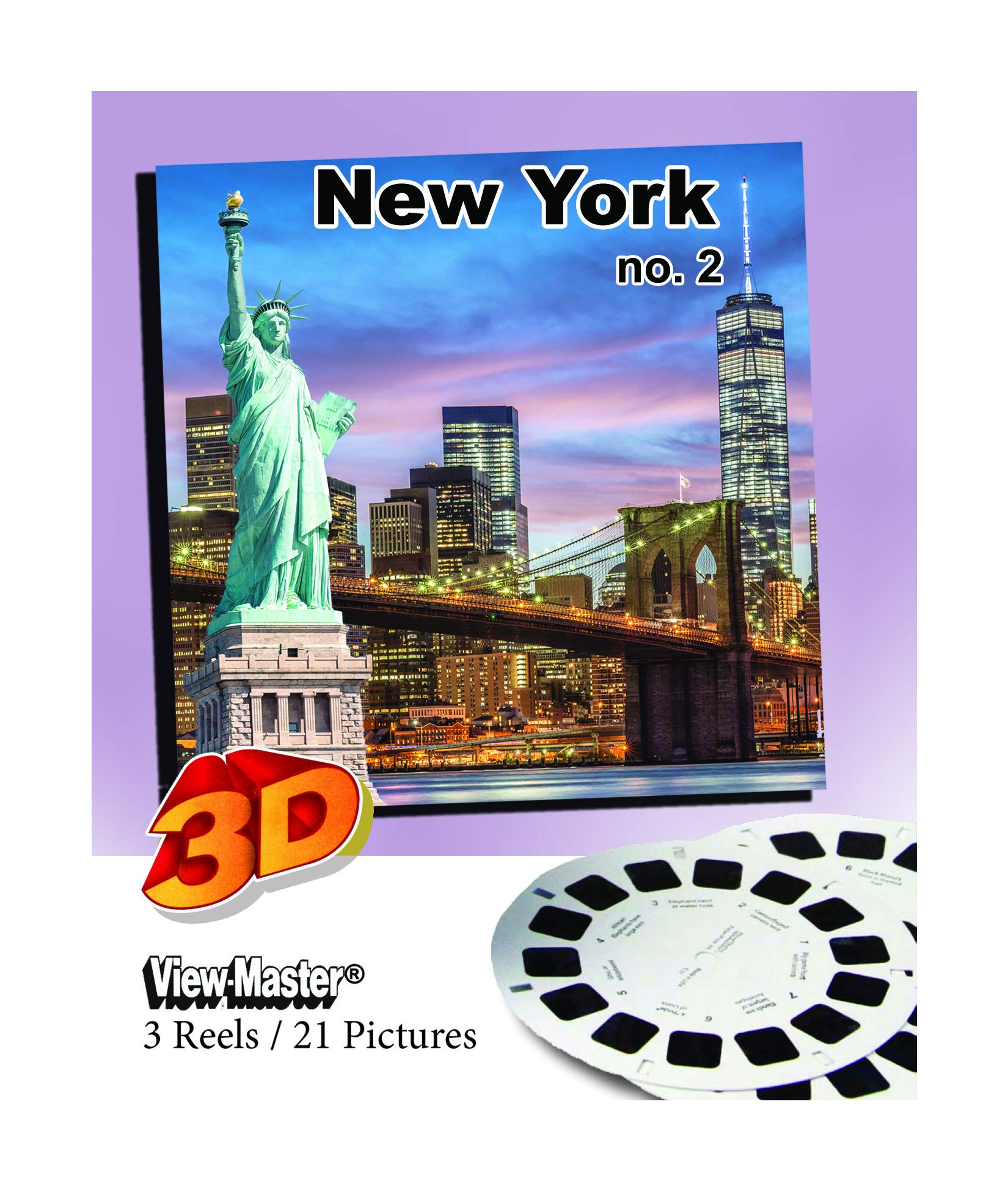 ViewMaster Classic New York City 2 - 3 reels 2013 City Scenes by 3Dstereo ViewMaster