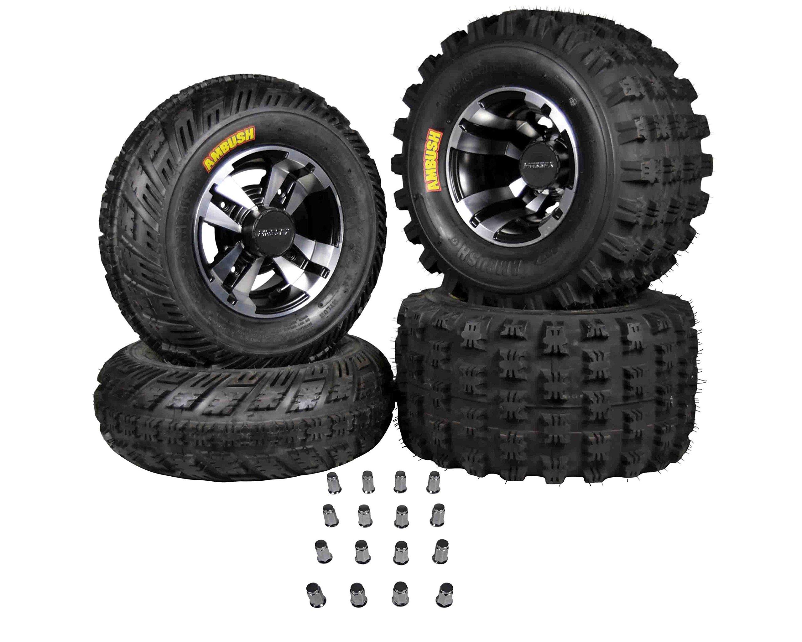 Ambush 21x7-10 20x11-9 Tires w MASSFX Machined Rims 10x5 4/156 9x8 4/115 Wheels