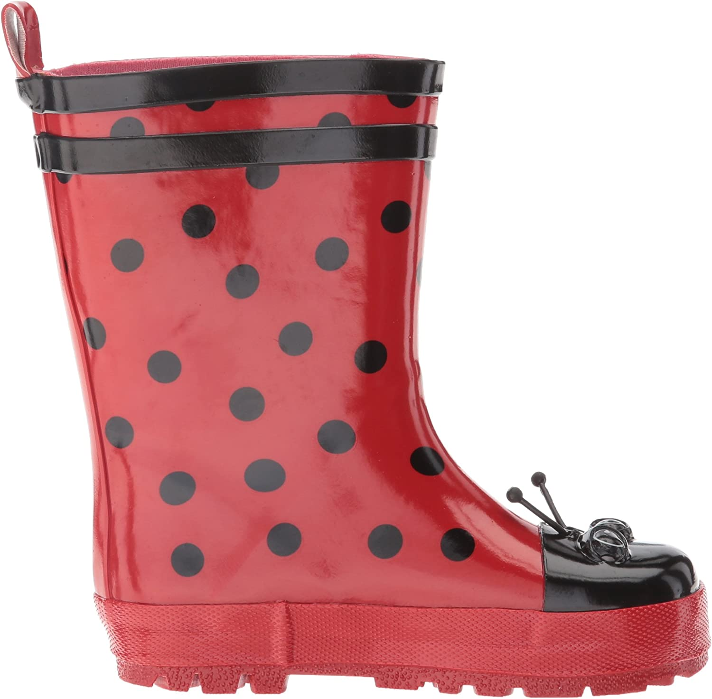 Kidorable Girls Ladybug Rain Boots 5 M US Toddler Red