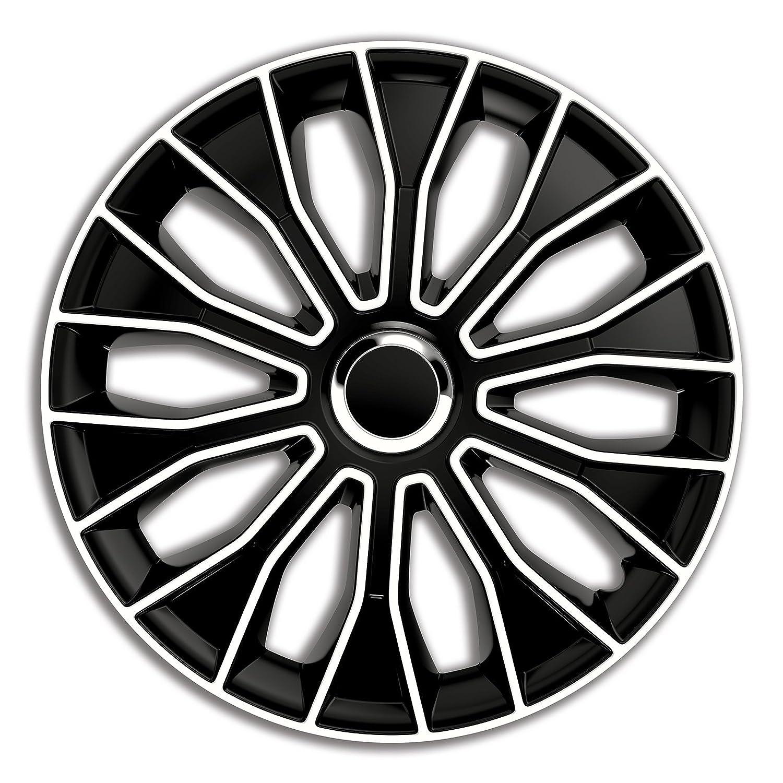 4pz Copricerchi Coppa ruota Coppe borchie Voltec Pro Nero&Bianco 15 pollici PKWelt