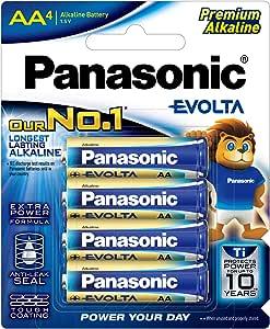 Panasonic Evolta Alkaline Battery, AA, 4ct