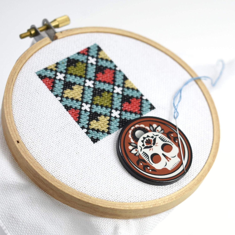 Handmade cabochon Matryoshka needle minderCute needle minderCover Minders diamond embroideryCross Stitch Needle nanny nesting doll