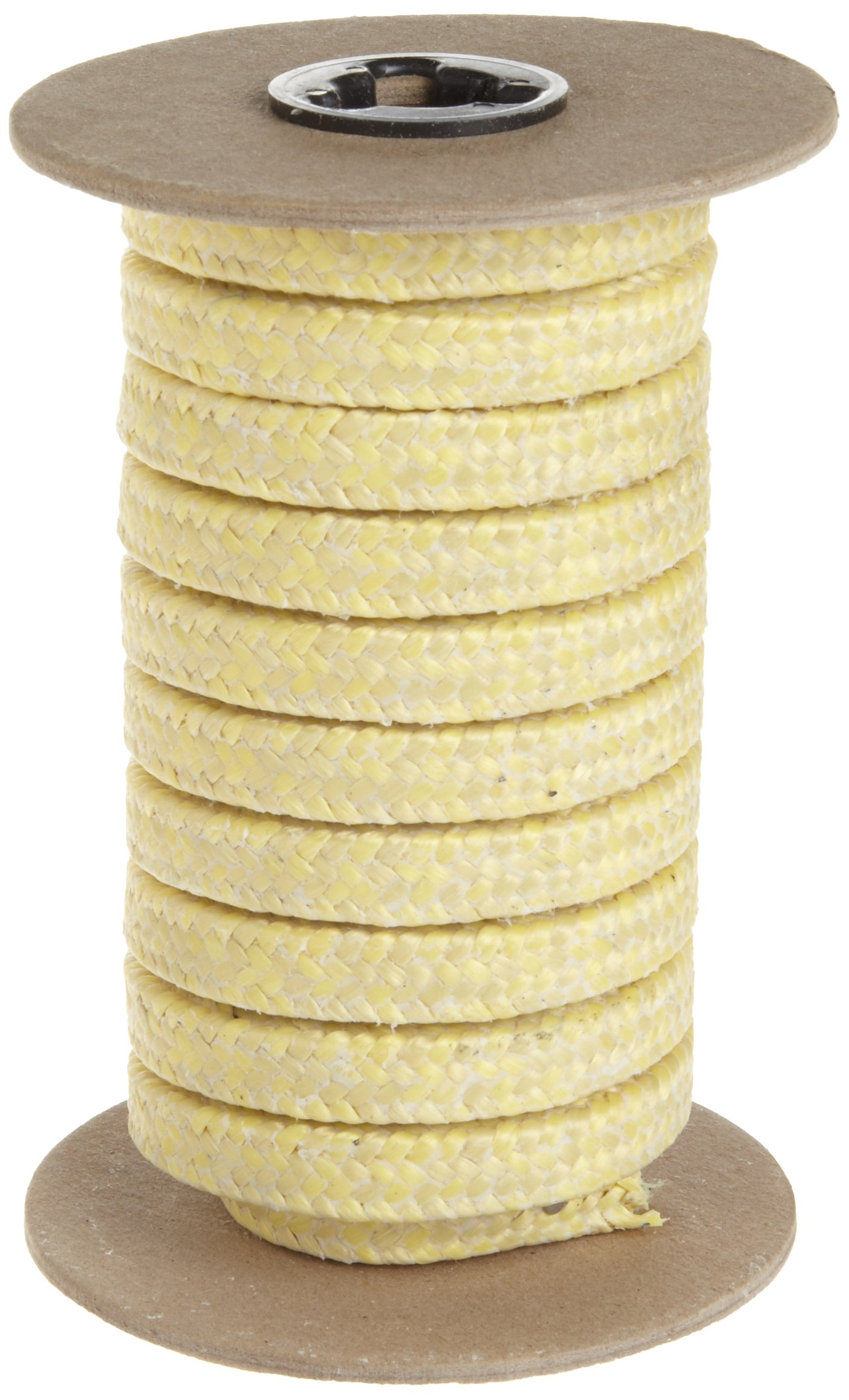 Palmetto 1350 Series Para-Aramid Compression Packing Seal, Yellow, 3/4'' Square, 5' Length