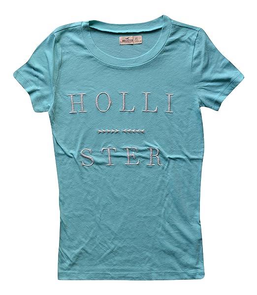 buena calidad exuberante en diseño nuevo producto Hollister Mujeres/niñas algodón Diseñador manga corta ...